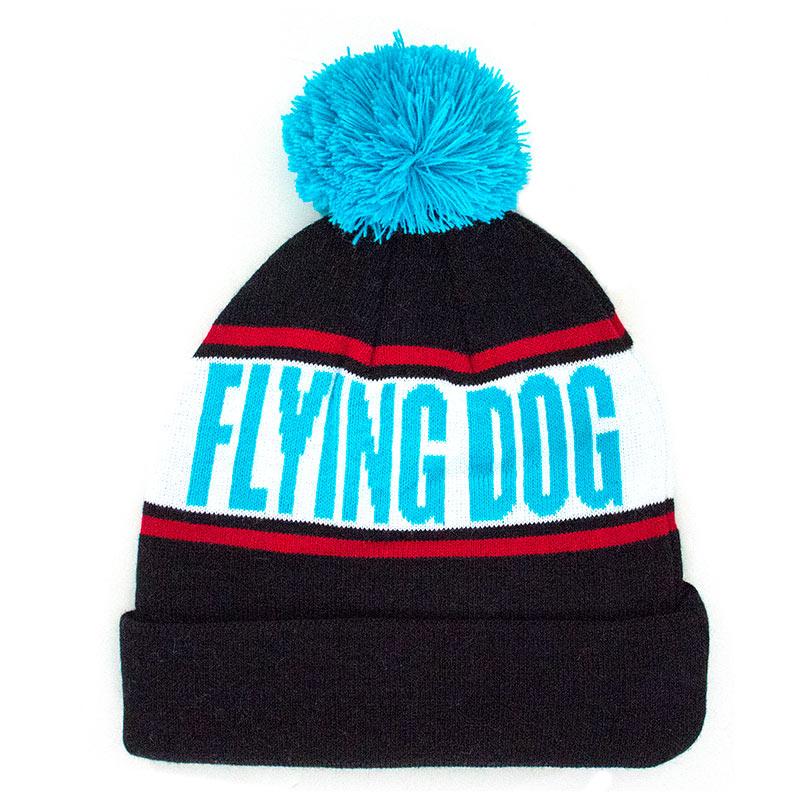 Flying Dog Black Winter Pom Beanie