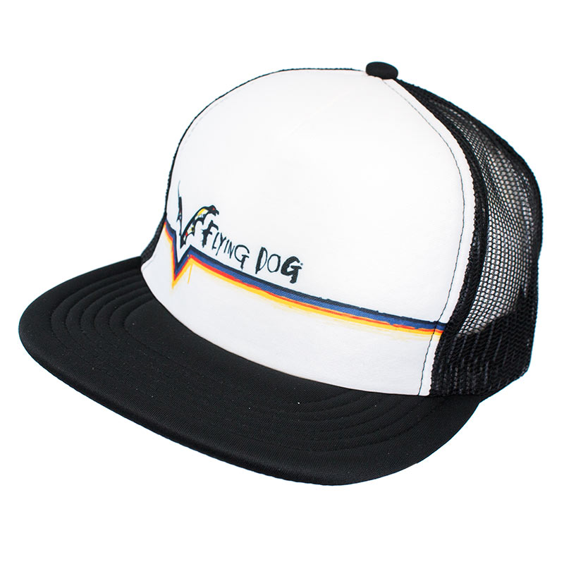 Flying Dog Beer Striped Trucker Hat