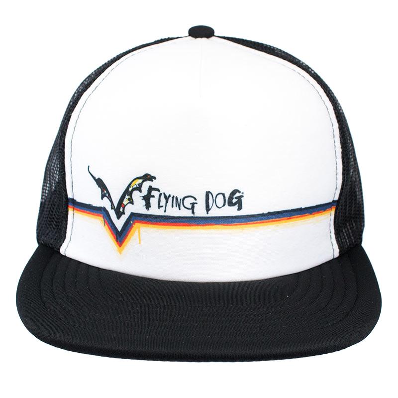 Flying Dog Striped Trucker Hat