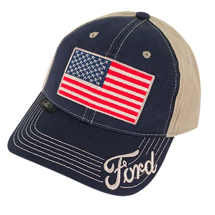 Ford Adjustable American Flag Hat