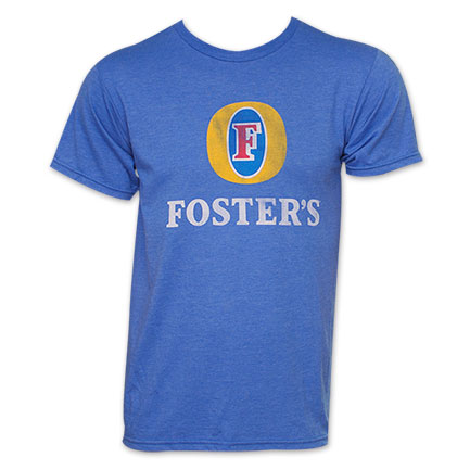 Foster's Beer Basic Logo Tee - Heather Blue