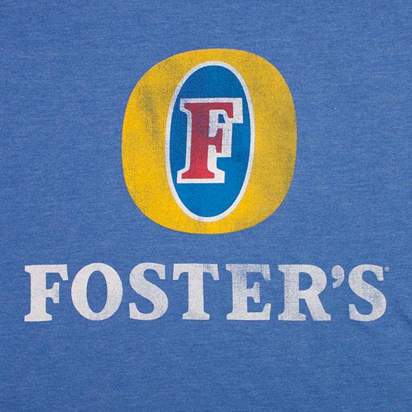 Foster's Beer Basic Logo Tee - Heather Blue