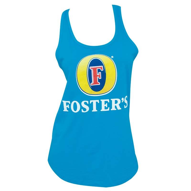 Foster's Beer Logo Racerback Women's Blue Tank Top