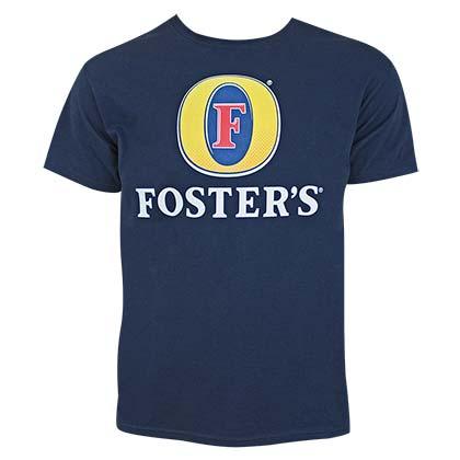 Foster's Beer Logo Men's Navy Blue Tee Shirt