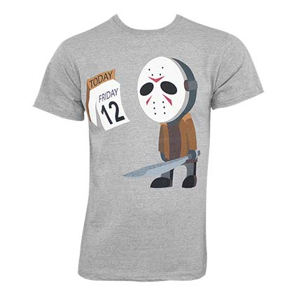 Friday The 13th Men's Grey Day Early T-Shirt