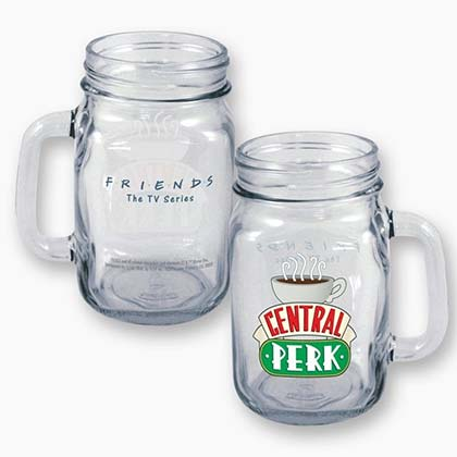 Friends Central Perk 16oz Mason Jar Mug