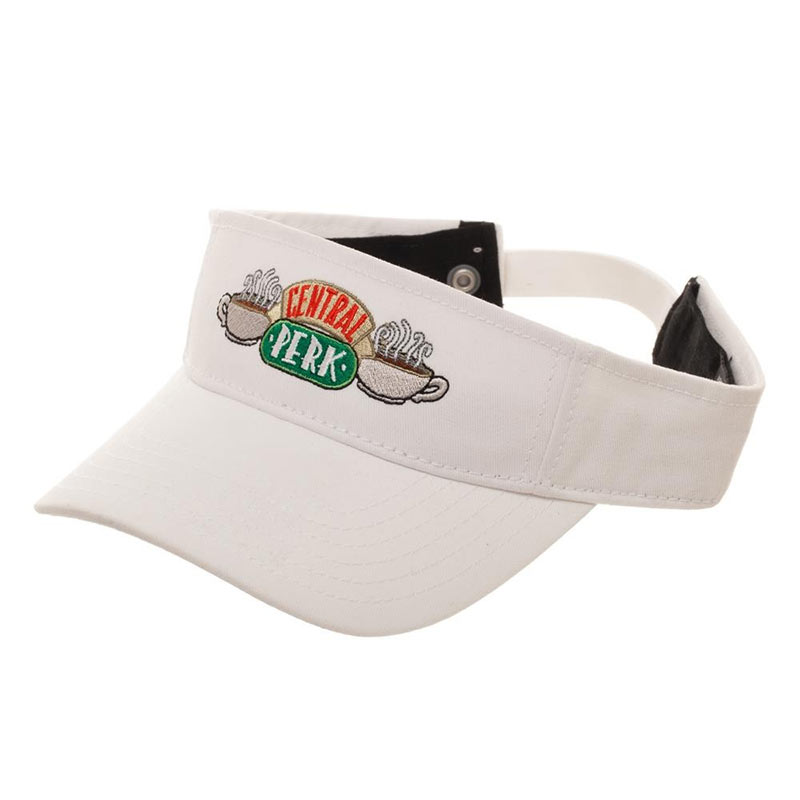 Friends Central Perk Coffee Shop White Visor