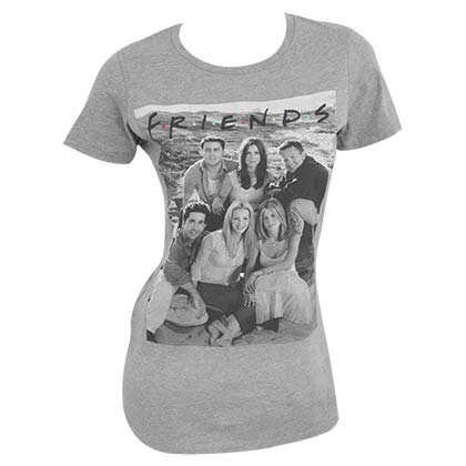 Friends Character Cast Heather Grey Women's Tee Shirt
