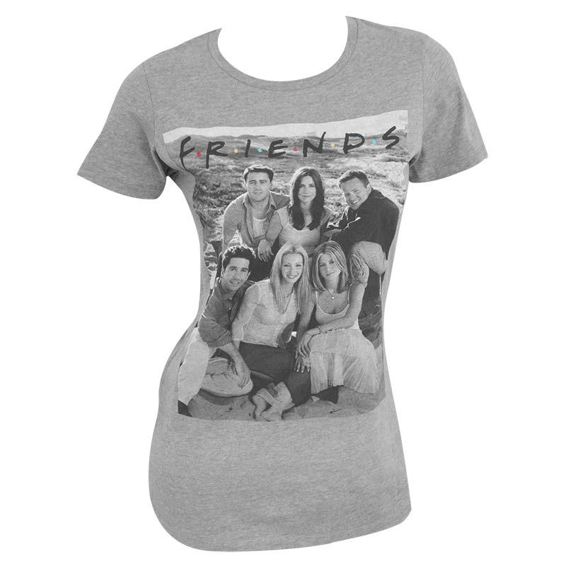 Friends Character Cast Heather Grey Women's Tee Shirt