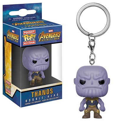 Avengers Infinity War Thanos Funko Pocket Pop Keychain