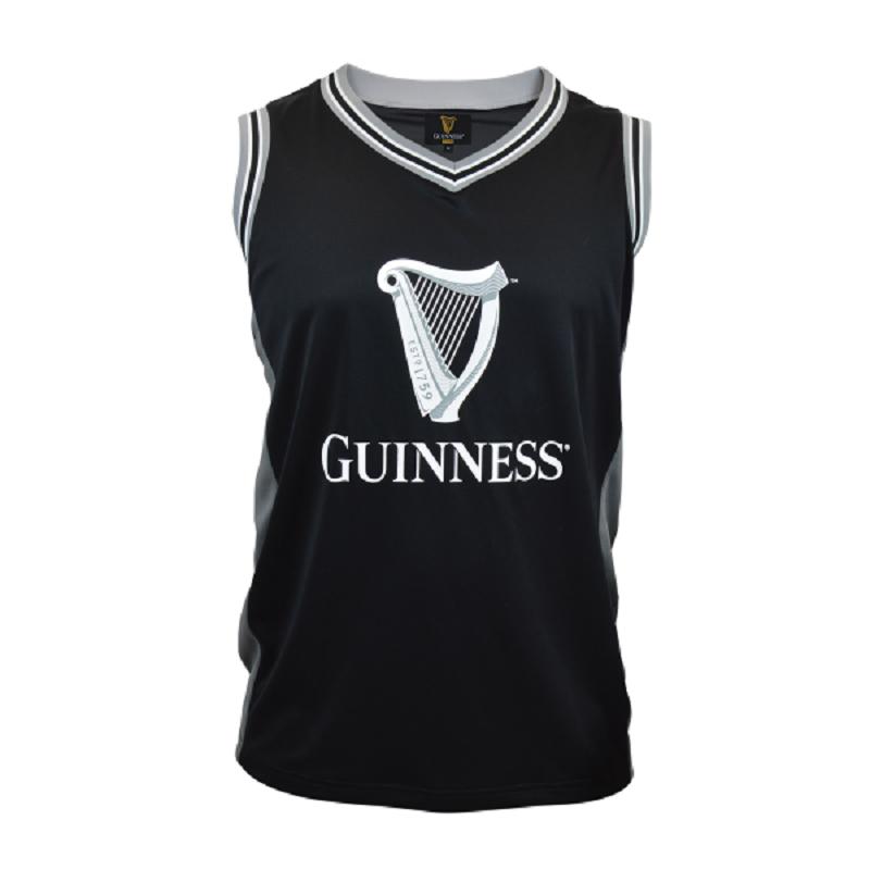 5dcd62d34 Guinness Black and Grey Basketball Jersey