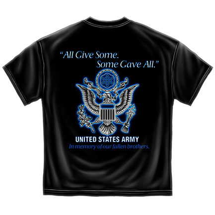 Men's Black US Army Fallen Brothers Tee Shirt