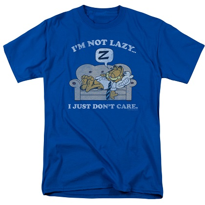 Garfield Not Lazy Just Don't Care Tshirt