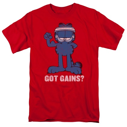 Garfield Got Gains Tshirt