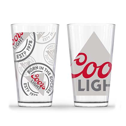 Coors Light Set Of Two Pint Glasses