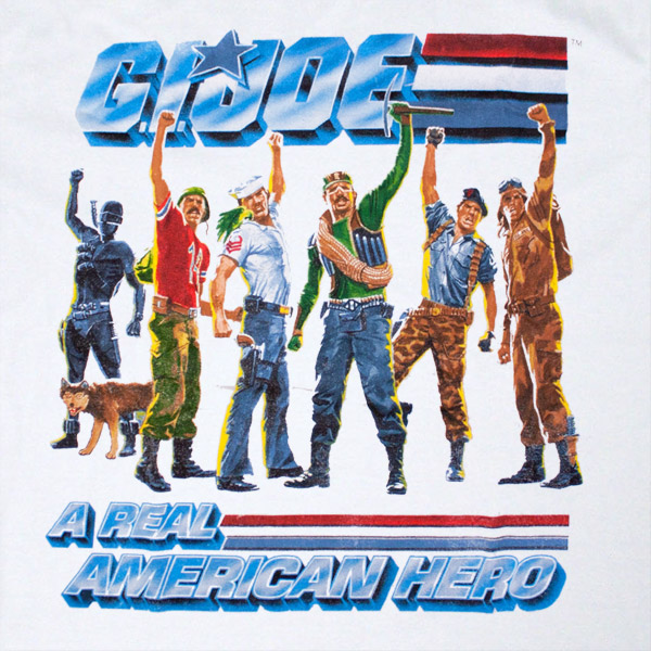 GI Joe American Hero White T Shirt