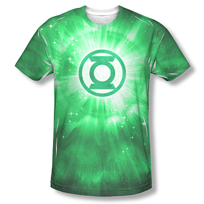 Green Lantern Men's Green Sublimation Energy Tee Shirt