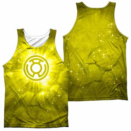 Green Lantern Yellow Energy Sublimation Tank Top