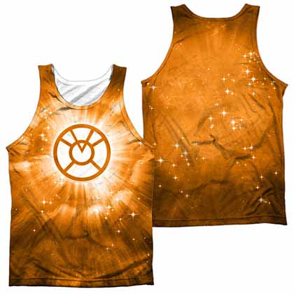 Green Lantern Orange Energy Sublimation Tank Top