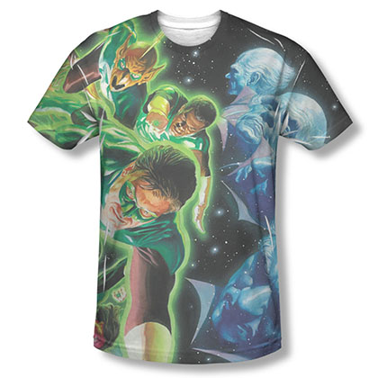 Green Lantern Men's Black Sublimation Guardians Tee Shirt
