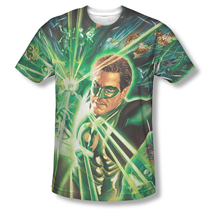 Green Lantern Men's Green Sublimation Burst T-Shirt