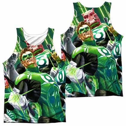 Green Lantern High Beams Sublimation Tank Top