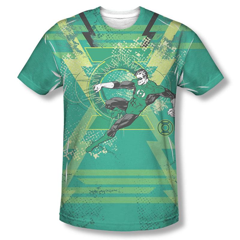 Green Lantern Men's Green Sublimation Wield The Power T-Shirt