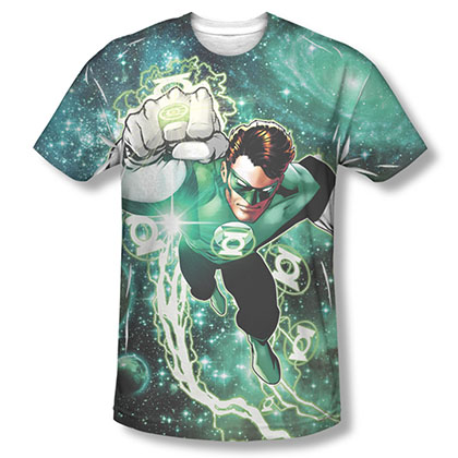 Green Lantern Men's Green Sublimation Galactic Hal T-Shirt