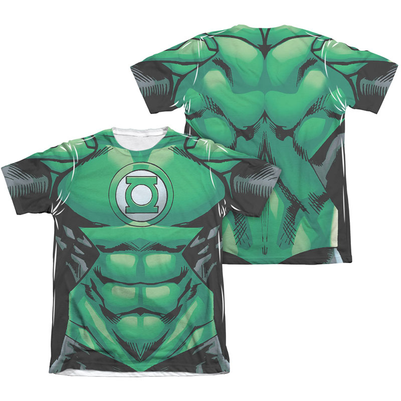 06701213 Green Lantern Muscle Two-Sided Costume Sublimation T-Shirt ...