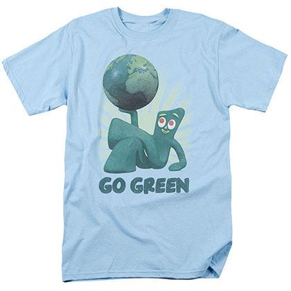 Gumby Go Green Blue T-Shirt