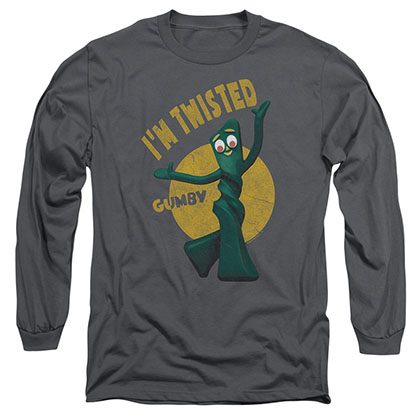 Gumby Twisted Gray Long Sleeve T-Shirt
