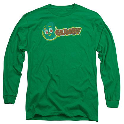 Gumby Logo Green Long Sleeve T-Shirt