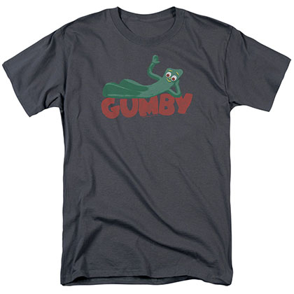 Gumby On Logo Gray T-Shirt