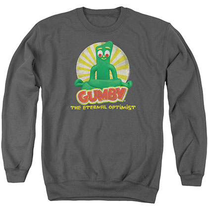 Gumby Optimist Gray Crew Neck Sweatshirt