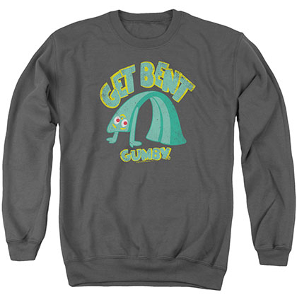 Gumby Get Bent Gray Crew Neck Sweatshirt