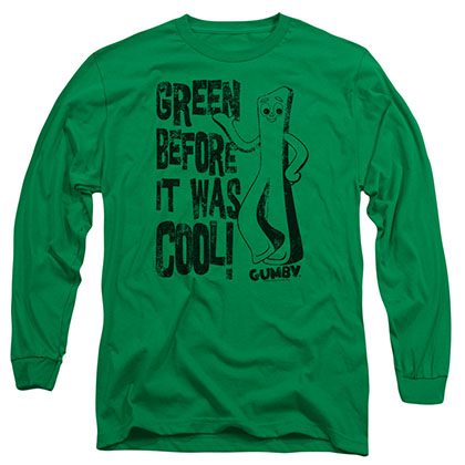 Gumby Cool Green Green Long Sleeve T-Shirt