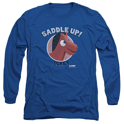 Gumby Saddle Up Blue Long Sleeve T-Shirt
