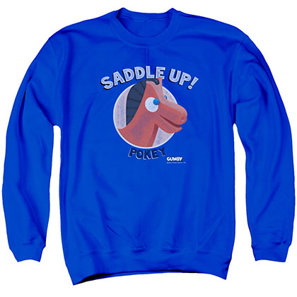 Gumby Saddle Up Blue Crew Neck Sweatshirt