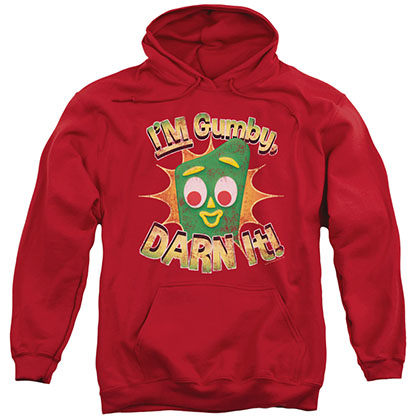 Gumby Darn It Red Pullover Hoodie