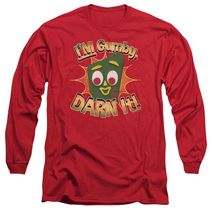 Gumby Darn It Red Long Sleeve T-Shirt