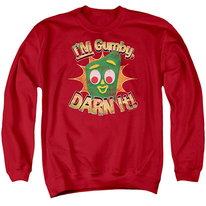 Gumby Darn It Red Crew Neck Sweatshirt