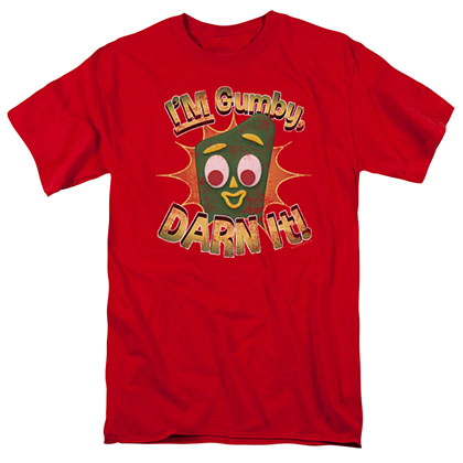 Gumby Darn It Red T-Shirt