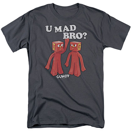 Gumby U Mad Bro Gray T-Shirt