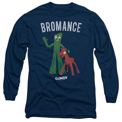 Gumby Bromance Blue Long Sleeve T-Shirt
