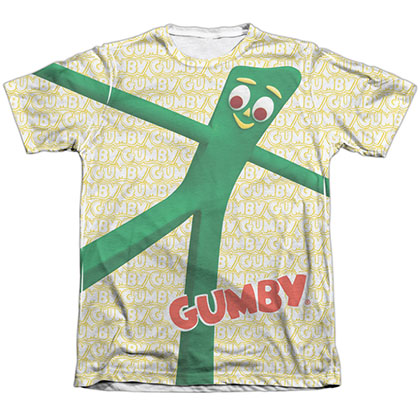 Gumby Stretched White Sublimation T-Shirt