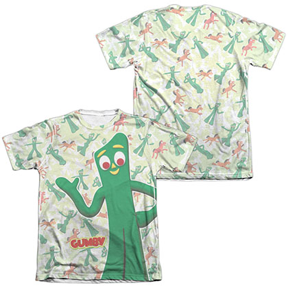 Gumby Friendly Greeting White 2-Sided Sublimation T-Shirt