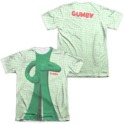 Gumby Gumb Me Sub White 2-Sided Sublimation T-Shirt