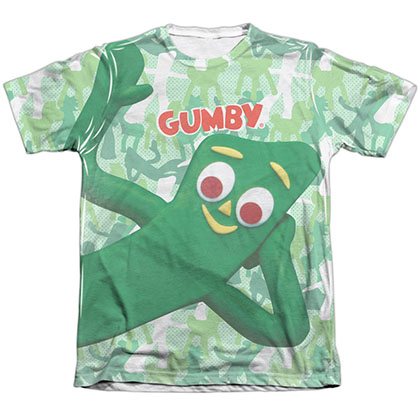 Gumby Gumbyflage White Sublimation T-Shirt