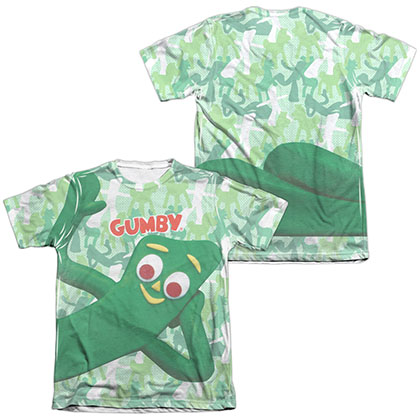 Gumby Gumbyflage White 2-Sided Sublimation T-Shirt