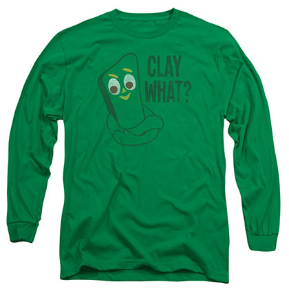 Gumby Clay What Green Long Sleeve T-Shirt